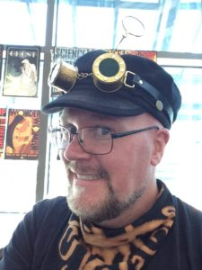 Paul got himself a spiffy new set of goggles.