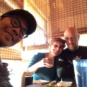 A lovely way to end our trip: Tonkotsu Ramen with old comics buddy Stan Yan.  Thanks, Stan!